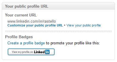 Linked In Public Profile URL
